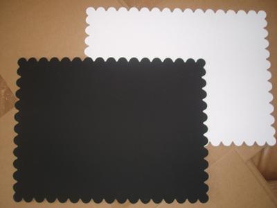 Подложка усиленная ламинир. 300x400мм, ч/б