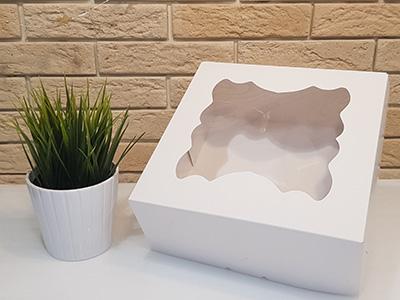 Упаковка 9-капкейков с окном, без печати
