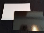 Подложка квадратная, толщиной 3,2 мм, ламинированная, 590*390мм. ч/б.