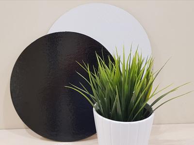 Подложка, толщиной 1,8 мм, ламинированная D = 240 мм черная/белая