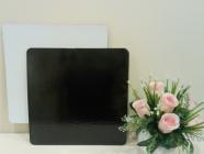 Подложка квадратная, толщиной 3,2 мм, ламинированная, 260*260 мм ч/б