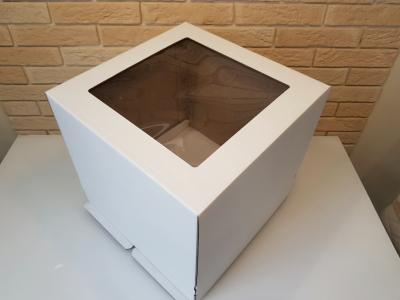 Тортница 350x350x350мм, белая