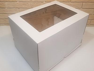 Тортница 400x300x250мм, белая