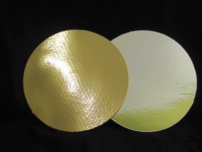Подложка ламинированная 280мм, круглая толщина 0,8 мм зол/сер