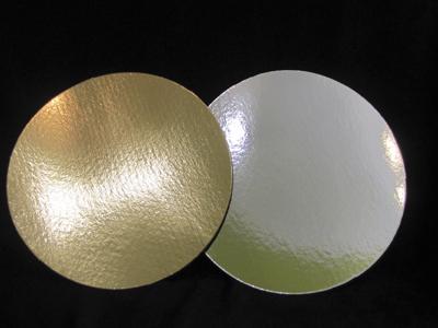 Подложка ламинированная 300мм, круглая толщина 0,8 мм зол/сер