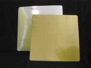 Подложка ламинированная 390x390мм толщина 0,8 мм зол/сер